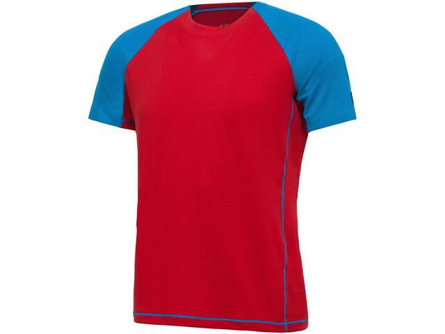 Millet Trilogy Delta Logo Short Sleeve Shirt Men rouge/light sky